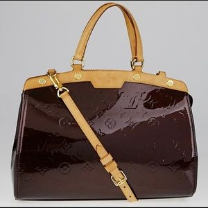 Limited edition Louis Vuitton shiny maroon bag